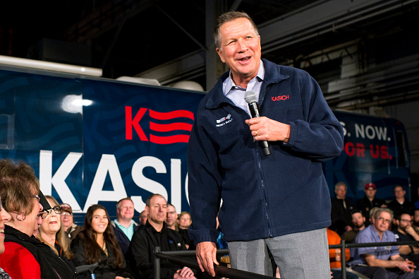YOUNGSTOWN, OH - MARCH 14: Republican presidential candidate Ohio Gov. John Kasich. Photo by Angelo Merendino/Getty Images