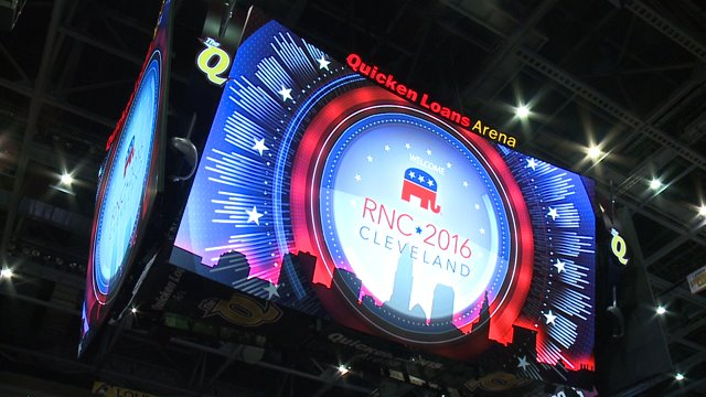Quicken Arena, Cleveland, Ohio, site of the 2016Republican Convention.
