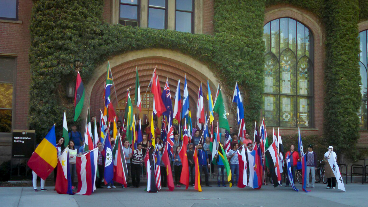 Students from 35 countries at the University of Idaho.