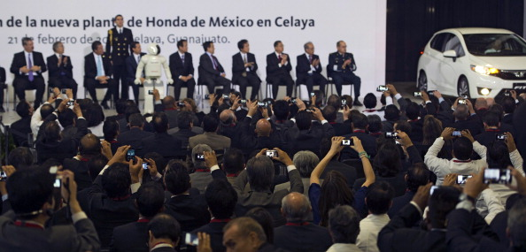 The new Honda car factory in Celaya, Guanajuato state, Mexico. OMAR TORRES/AFP/Getty Images