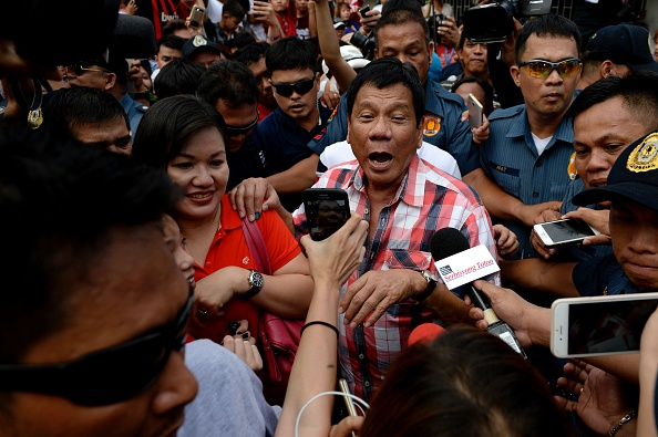 Davao City Mayor Rodrigo Duterte leaves the voting precint after casting his vote. He is the new president of the Philippines. NOEL CELIS/AFP/Getty Images