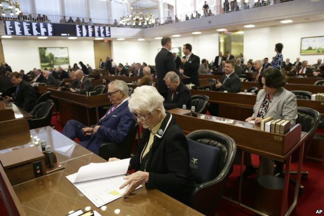 "North Carolina lawmakers at the special session that passed the ""bathroom"" bill. March 23, 2016"