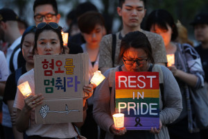 A vigil in downtown Seoul, Korea. Photo by Chung Sung-Jun/Getty Images