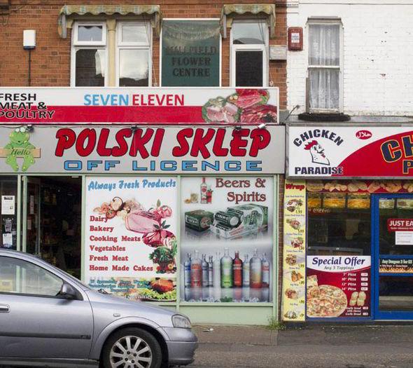 Polish shops.