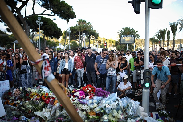 NICE, FRANCE - JULY 15 : People visit the scene and lay tributes to the victims of a terror attack in Nice, France. Photo by Onur Coban/Anadolu Agency/Getty Images