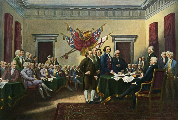 'Signing the Declaration of Independence. Photo by Culture Club/Getty Images.