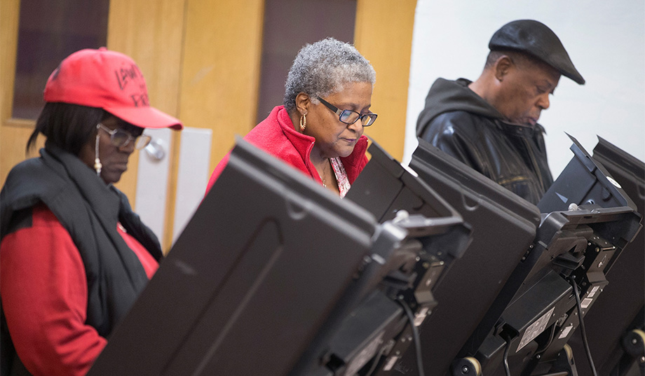 Voters in past election in Ferguson, MO. Photo: Scott Olson/Getty
