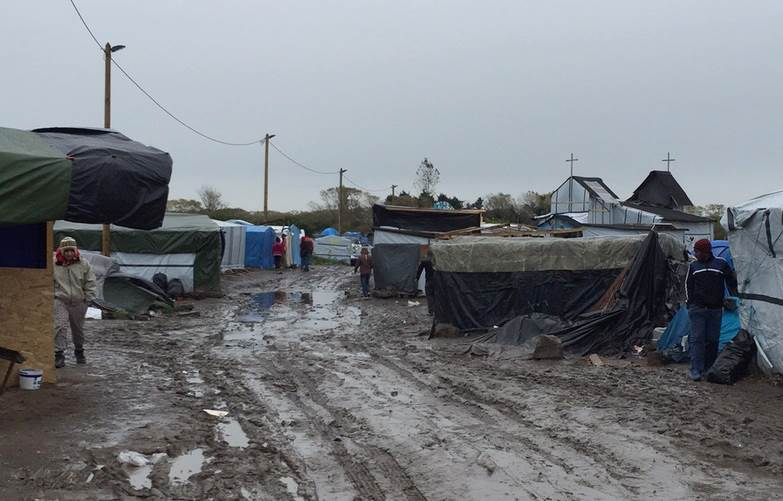 "Disease is rife in the ""Jungle"" — a camp for refugees and migrants in Calais, France. Photo credit: Alastair Jamieson / NBC News"
