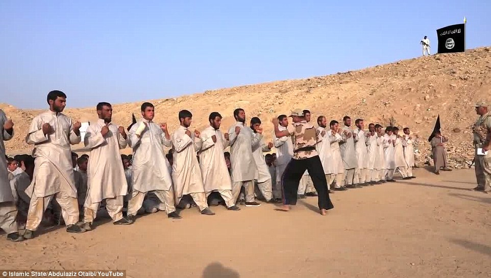 Training Islamic State fighters.
