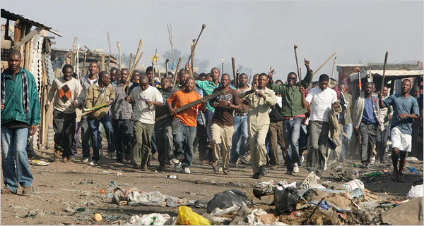 Poor South Africans riot against immigrants.