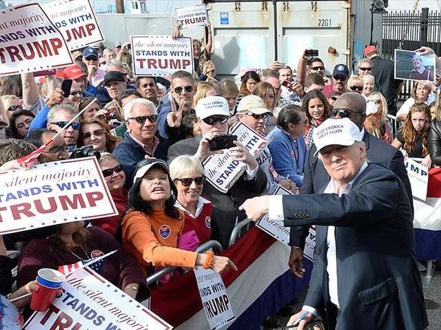 Donald Trump and supporters. Getty Phote