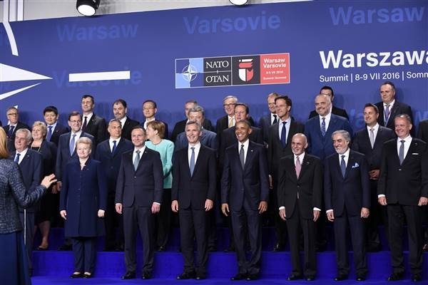Leaders of NATO. Susan Walsh, AP.
