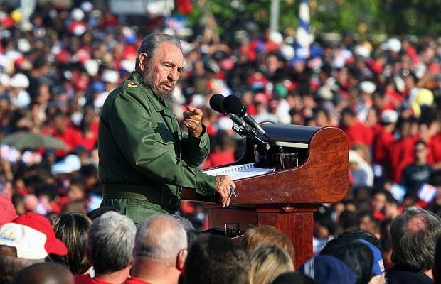 Fidel Castro speaking. Photo credit: GETTY
