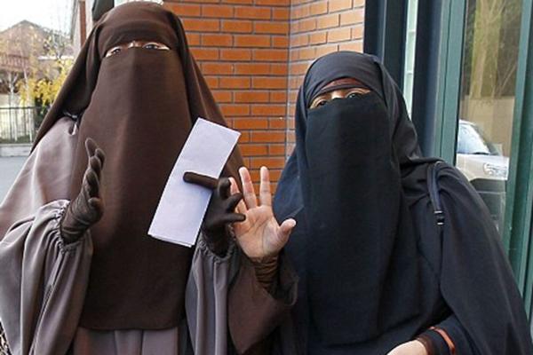 Burqa wearers in Morocco.
