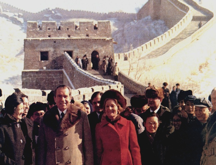 President and Mrs. Nixon at the Great Wall of China in 1972.