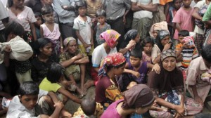 A Rohingya refugee camp.