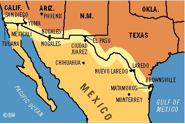 Map Of Texas Mexico Border Towns.The Good Life In A Texas Border Town The Times In Plain English